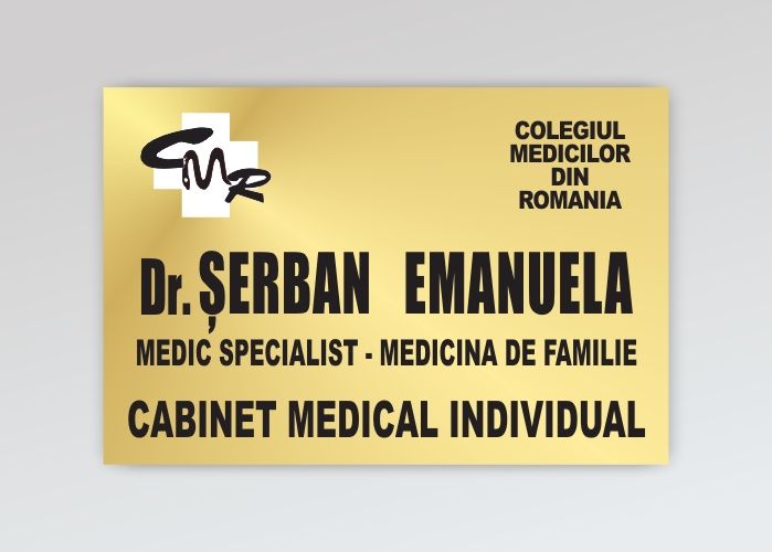 Firma cabinet medical - format mare